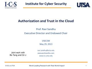 Authorization and Trust in the Cloud