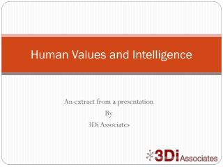 Human Values and Intelligence