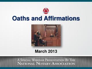Oaths and Affirmations