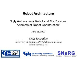 Robot Architecture