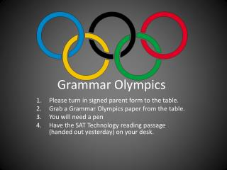 Grammar Olympics