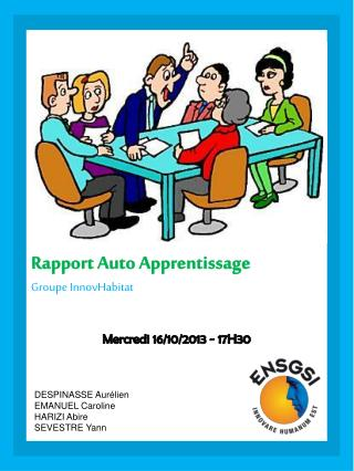 Rapport Auto Apprentissage  Groupe  InnovHabitat