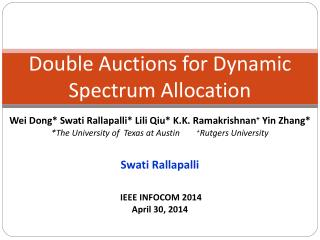 Double Auctions for Dynamic Spectrum Allocation
