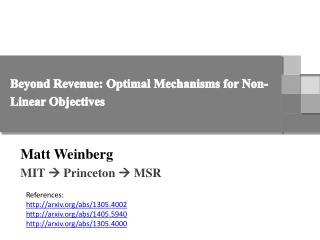 Beyond Revenue: Optimal Mechanisms for Non-Linear Objectives