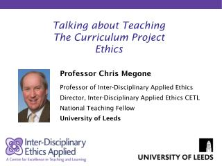 Talking about Teaching The Curriculum Project Ethics