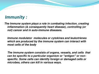 Immunity :