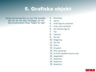 5. Grafiska objekt
