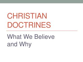 Christian Doctrines