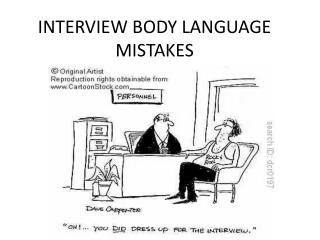 INTERVIEW BODY LANGUAGE MISTAKES