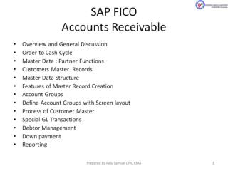 SAP FICO  Accounts Receivable