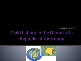 Child Labour in the Democratic Republic of the Congo