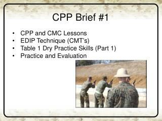 CPP Brief #1