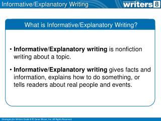 Informative/Explanatory Writing