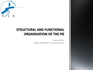 STRUCTURAL AND FUNCTIONAL ORGANISATION OF THE FIE
