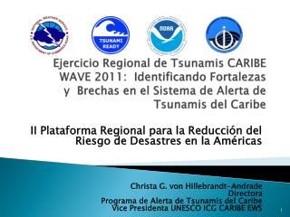 II Plataforma Regional para la Reducción del Riesgo de Desastres en la Américas