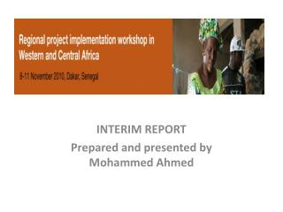 INTERIM REPORT  Prepared and presented by  Mohammed Ahmed