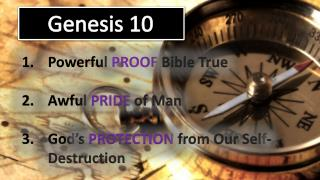 Powerful  PROOF  Bible True Awful  PRIDE  of Man God�s  PROTECTION  from Our Self-Destruction