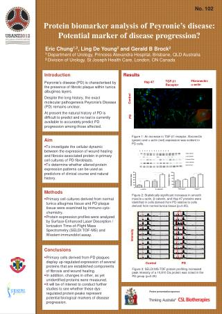 Protein biomarker analysis of Peyronie's disease: Potential marker of disease progression?