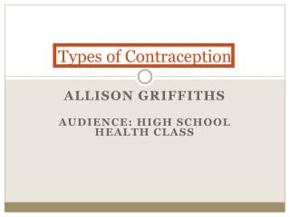 Types of Contraception