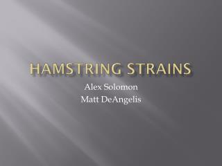 Hamstring Strains