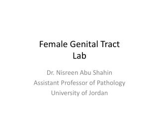Female Genital Tract Lab