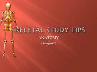 Skeletal Study Tips