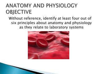 ANATOMY AND PHYSIOLOGY OBJECTIVE