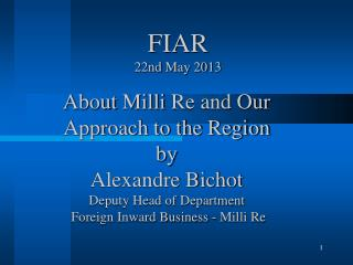FIAR 22nd  May 2013