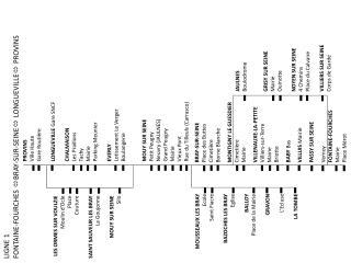 LIGNE 1 FONTAINE-FOURCHES   BRAY-SUR-SEINE   LONGUEVILLE   PROVINS