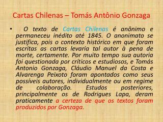 Cartas Chilenas – Tomás Antônio Gonzaga