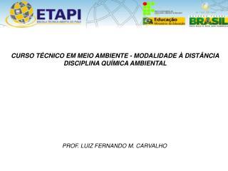 PROF. LUIZ  FERNANDO M. CARVALHO