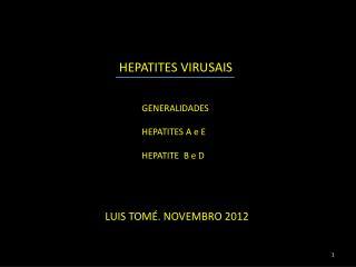 HEPATITES  VIRUSAIS