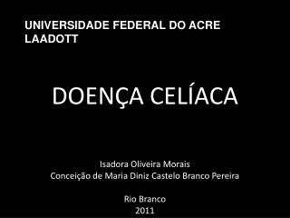 UNIVERSIDADE FEDERAL DO ACRE LAADOTT