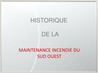 HISTORIQUE DE LA