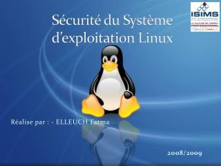 Sécurité du Système d'exploitation Linux