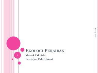 Ekologi Perairan