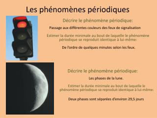 Les ph�nom�nes p�riodiques