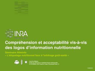 Compréhension et acceptabilité vis-à-vis des logos d'information nutritionnelle