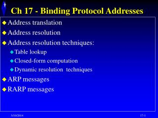 Binding Protocol Addresses