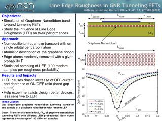 Objectives: Simulation  of  Graphene Nanoribbon  band-to-band tunneling FETs