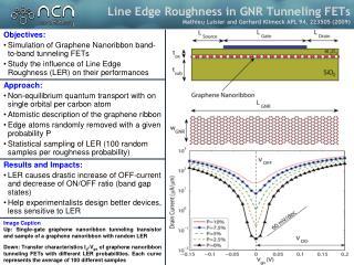 Objectives: Simulation  of  Graphene Nanoribbon  band-to-band tunneling FETs
