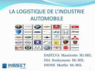 LA LOGISTIQUE DE L'INDUSTRIE AUTOMOBILE