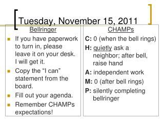 Tuesday, November 15, 2011