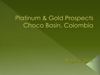 Platinum  &  Gold Prospects Choco  Basin , Colombia