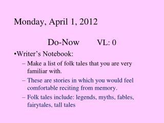 Monday, April 1, 2012