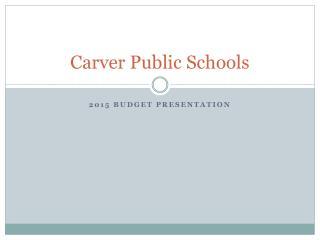 Carver Public Schools
