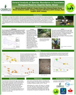 General Analysis of Species Abundance in Sooretama Biological Reserve,  Esp�rito  Santo, Brazil