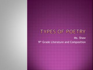 poetry ppt ms Pete's powerpoint station is your destination for free powerpoint presentations for kids and teachers about poetry, and so much more.