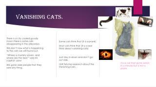Vanishing cats.