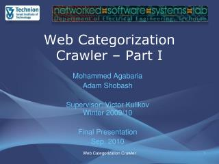 Web Categorization Crawler – Part I